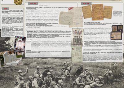 Exposition 150 ans d'histoire de Cuines, les guerres