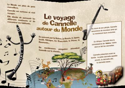 Le Voyage de Cannelle, dépliant (verso)