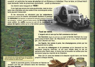 Musée ouvert de Saint Etienne de Cuines, communication et commerces ambulants (Les Jarboudières)